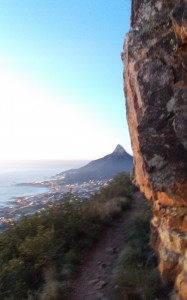 Lions Head visible on hike with qualified hiking guide Nick Ashby